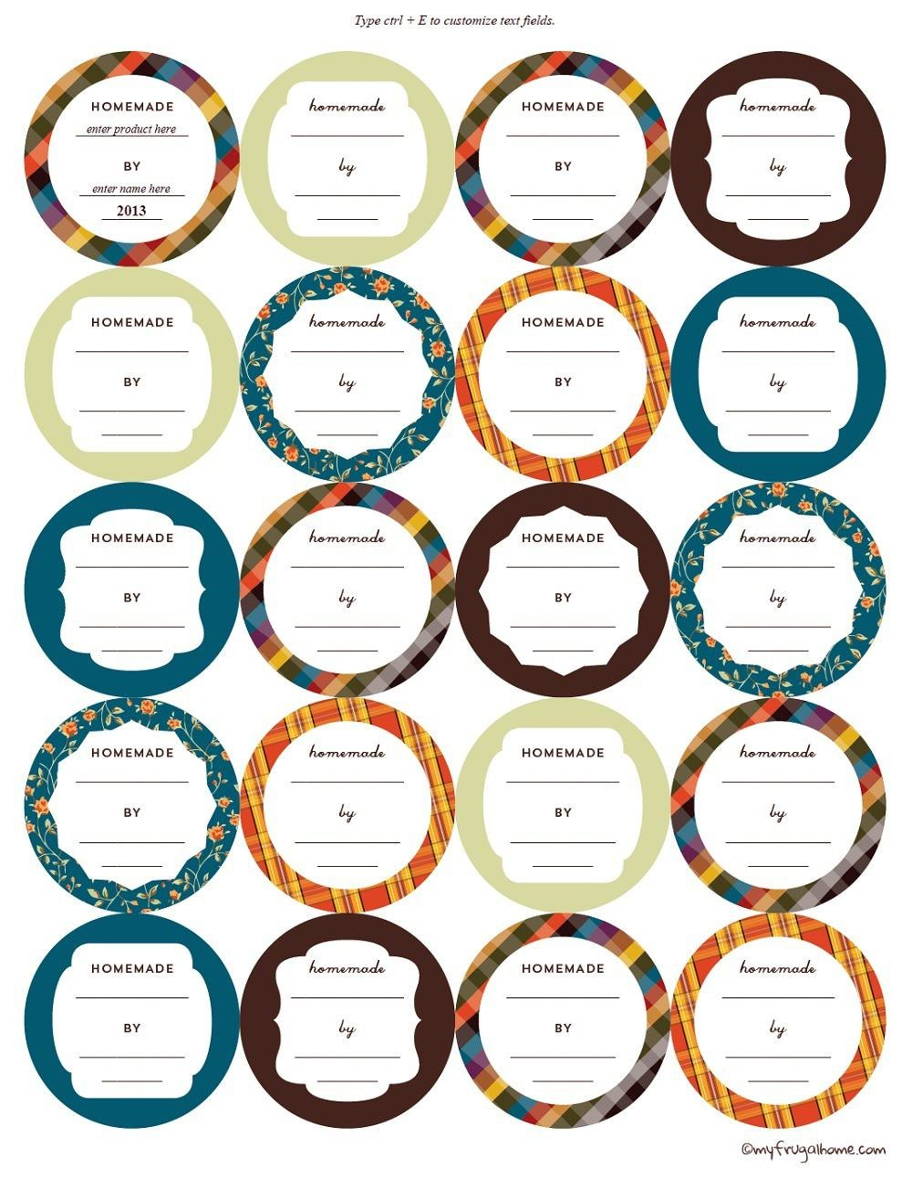 Printable Canning Jar Labels For Canning Jar Labels Template