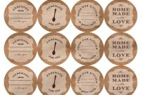 Printable Canning Jar Labels intended for Templates For Labels For Jars