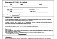 Printable Car Bill Of Sale Pdf  Bill Of Sale For Motor Vehicle in Vehicle Bill Of Sale Template Word