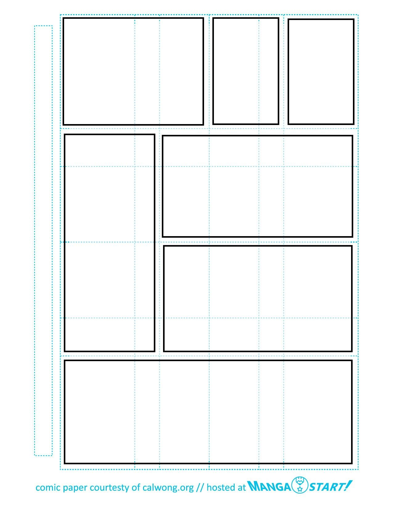 Printable Comic Strip Paper  Readingwriting In   Blank Comic Within Printable Blank Comic Strip Template For Kids