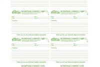 Printable Comment Card  Feedback Form Templates ᐅ Template Lab throughout Customer Information Card Template