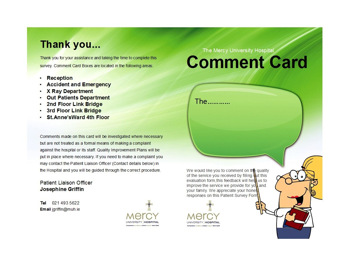 Printable Comment Card  Feedback Form Templates ᐅ Template Lab Throughout Survey Card Template