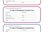 Printable Emergency Contact Form For Car Seat  Super Mom I Am throughout In Case Of Emergency Card Template
