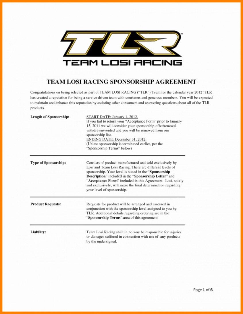 Printable  Frais Image De Race Car Sponsorship Proposal Template Inside Race Car Sponsorship Agreement Template