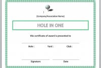 Printable Golf Award Certificate Templates with Golf Certificate Templates For Word