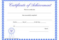 Printable Hard Work Certificates Kids  Printable Certificate Of with Free Printable Certificate Of Achievement Template