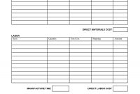Printable Job Estimate Forms  Job Estimate Free Office Form within Time And Material Invoice Template