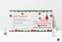 Printable Merry Christmas Gift Certificate Template In Adobe Photoshop in Gift Certificate Template Photoshop