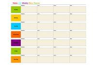 Printable Monthly Menu Template  Home Life Weekly Menu Planner in Menu Schedule Template