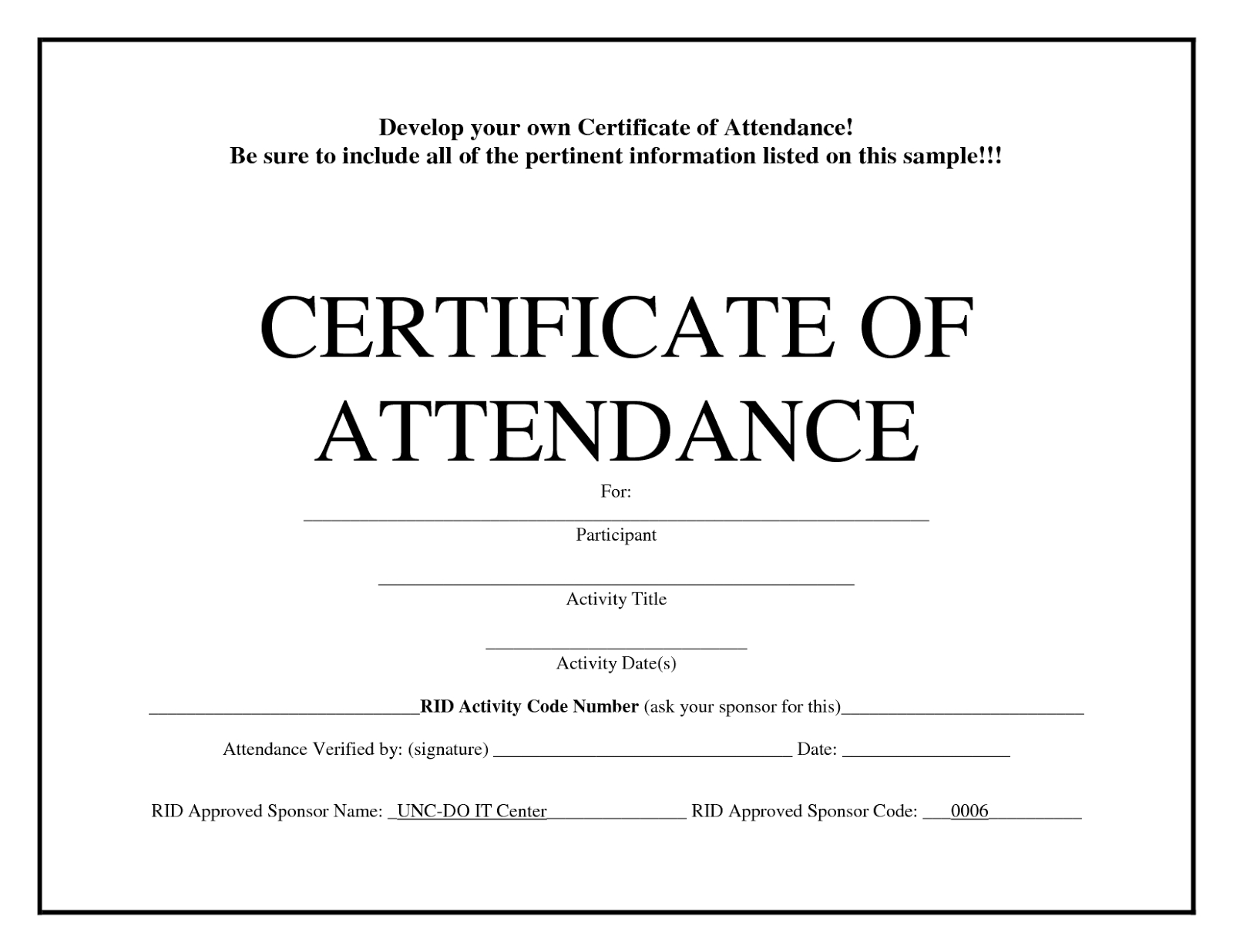 Printable Perfect Attendance Award Template  Free Download  D With Regard To Attendance Certificate Template Word
