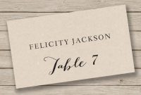 Printable Place Card Template  Escort Card Template  Tent regarding Wedding Place Card Template Free Word