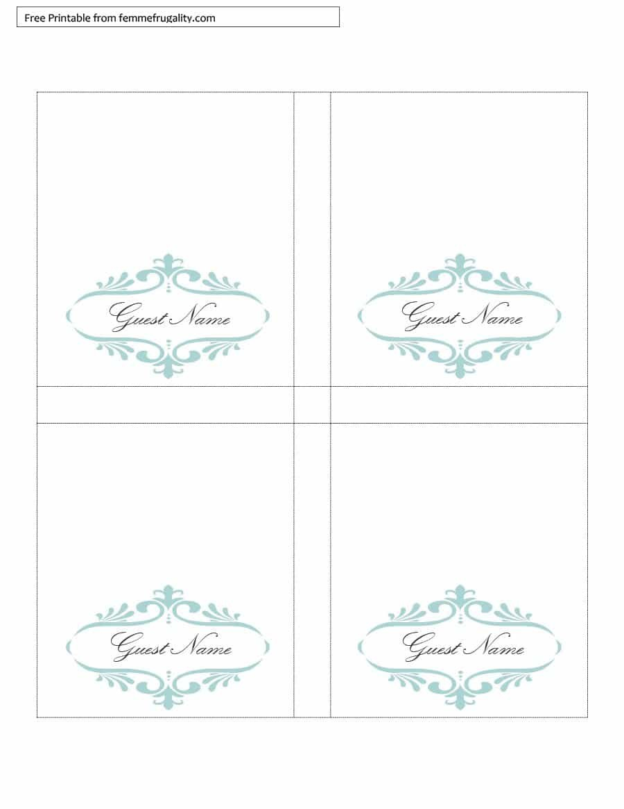Printable Table Tent Templates And Cards ᐅ Template Lab Inside Tri Fold Tent Card Template