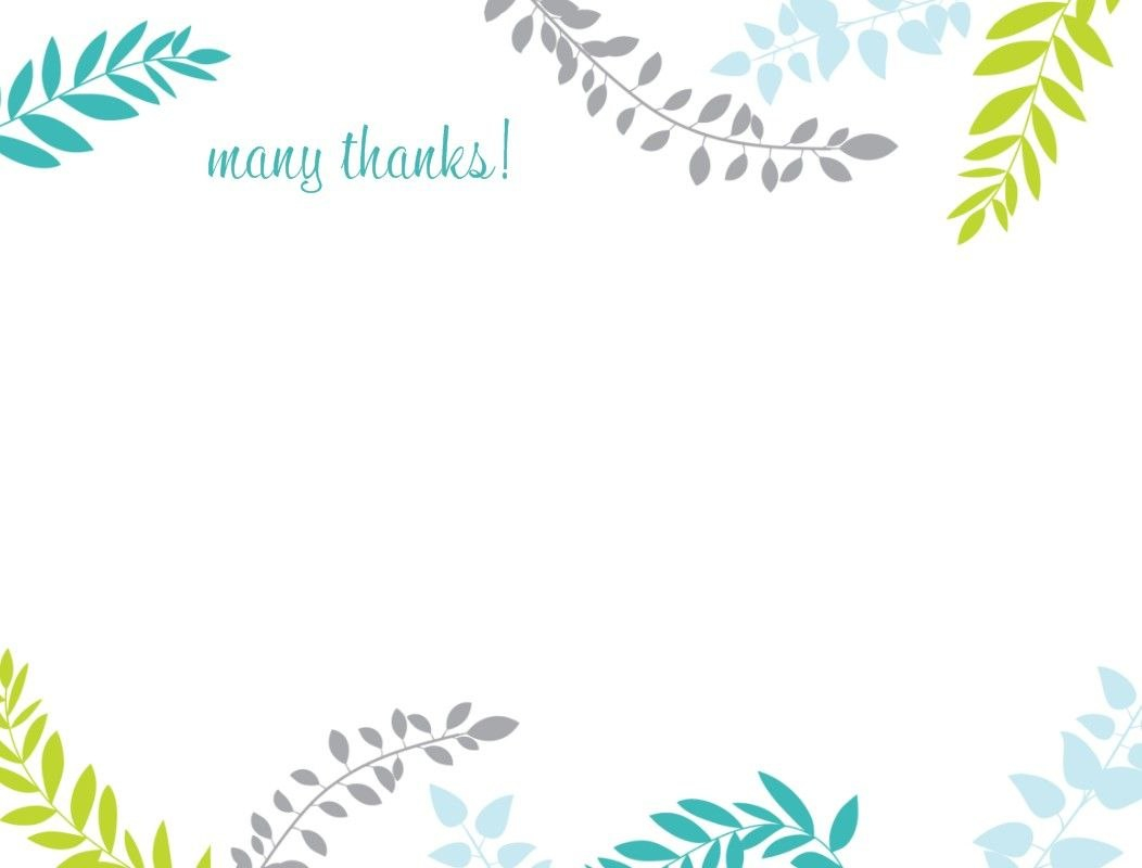 Printable Thank You Card Template  Harmonia Gift  Teacher's Day In Thank You Note Cards Template