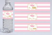 Printable Tutu Water Bottle Label Tutu Baby Shower Water Bottle inside Baby Shower Water Bottle Labels Template