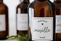 Printable Vanilla Extract Labels  Tidbits throughout Homemade Vanilla Extract Label Template