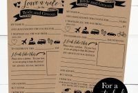 Printable Wedding Advice Cards Rustic Advice For The Bride And Groom  Funny Advice For The Newlyweds Wedding Words Of Wisdom Cards Template regarding Marriage Advice Cards Templates
