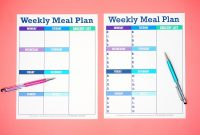 Printable Weekly Meal Planner Template  Happiness Is Homemade in Menu Schedule Template