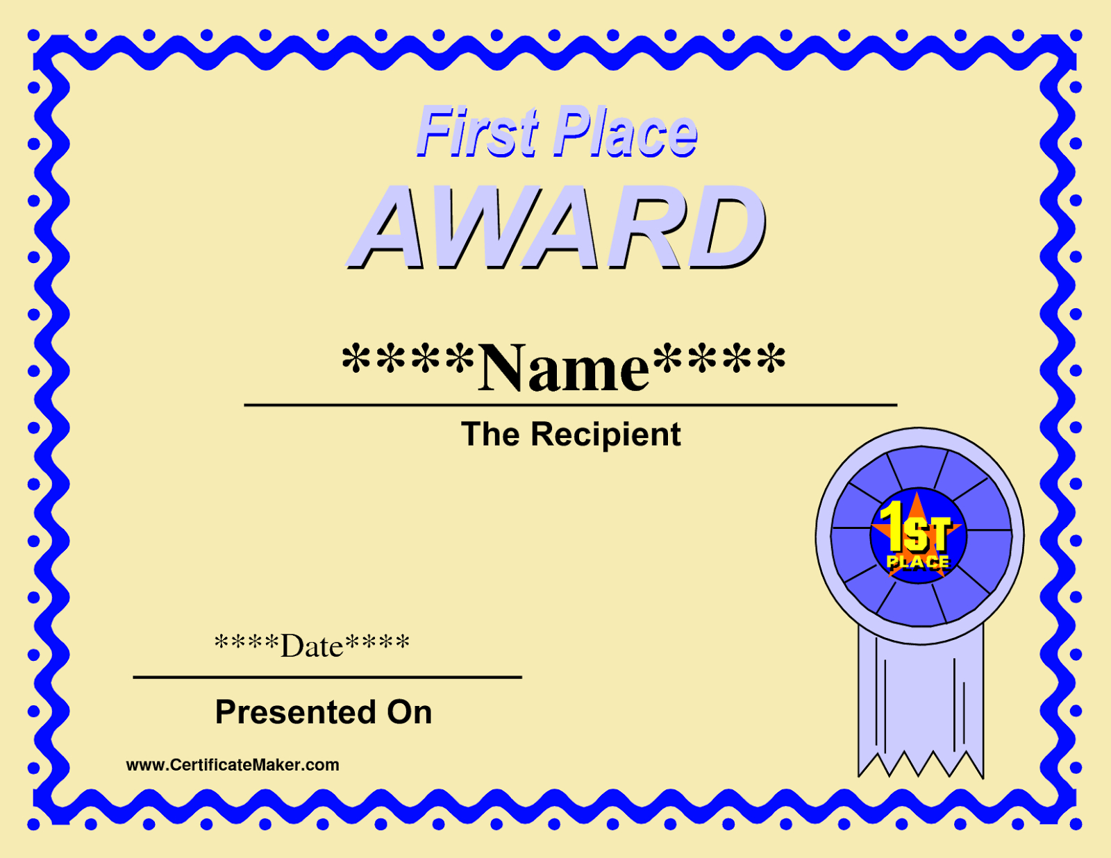 Printable Winner Certificate Templates  Winner Certificate Pertaining To First Place Award Certificate Template