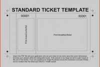 Printable Word Free Blank Ticket Exceptional Template Printing with regard to Free Raffle Ticket Template For Word