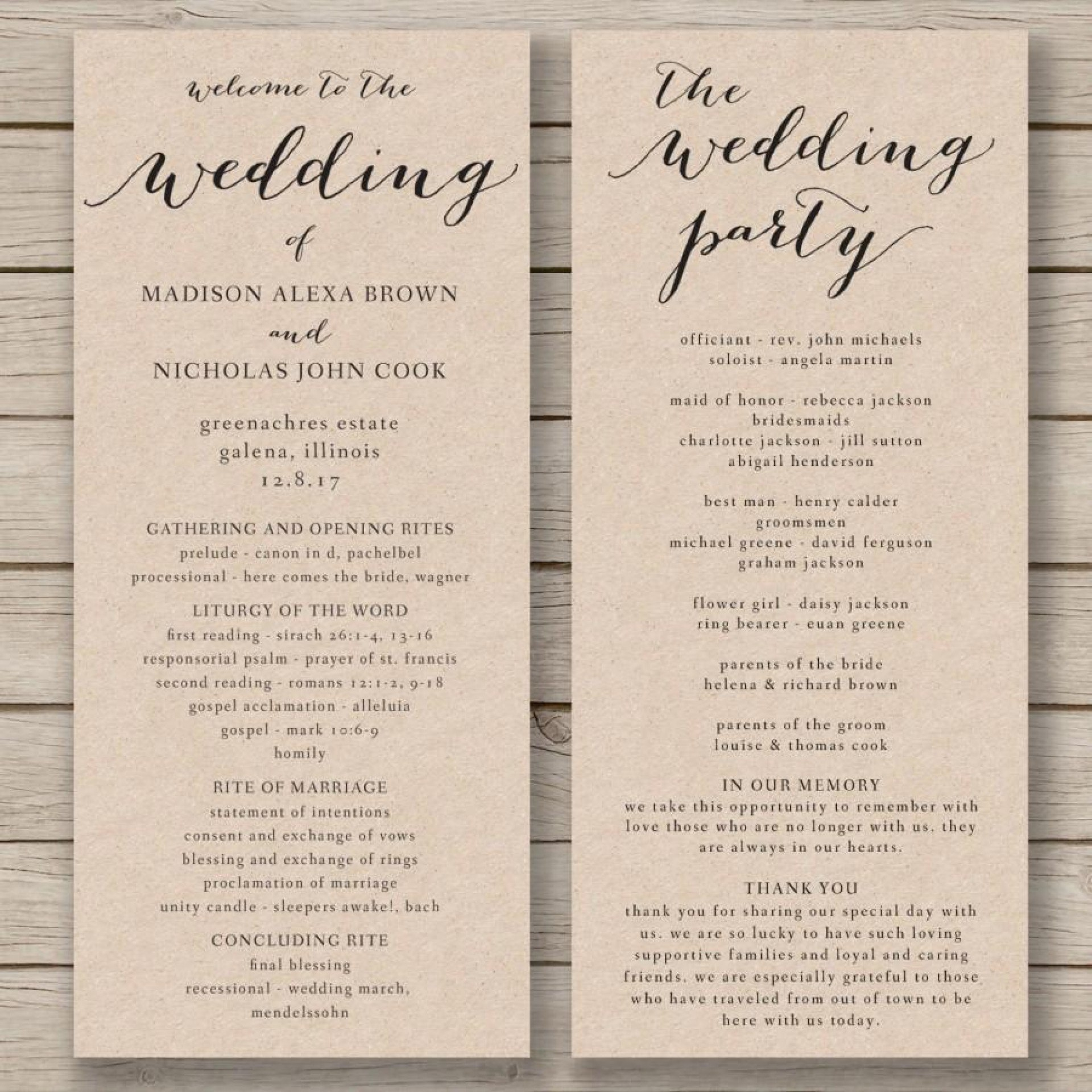 Printable Word Free Wedding Program Staggering Templates Inside Free Printable Wedding Program Templates Word