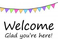 Printable Word Free Welcome Back Sign And Home Banner Template within Welcome Banner Template