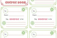 Printablechristmascouponbooktemplate  Crafts  Christmas throughout Free Christmas Gift Certificate Templates