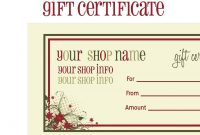 Printablechristmasgiftcertificatetemplate  Massage Certificate with Homemade Christmas Gift Certificates Templates