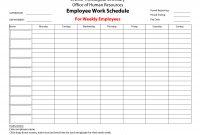 Printableemployeeworkscheduletemplate  Bored At Work  Schedule pertaining to Blank Monthly Work Schedule Template