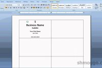 Printing Business Cards In Word  Video Tutorial  Youtube intended for Microsoft Word Place Card Template