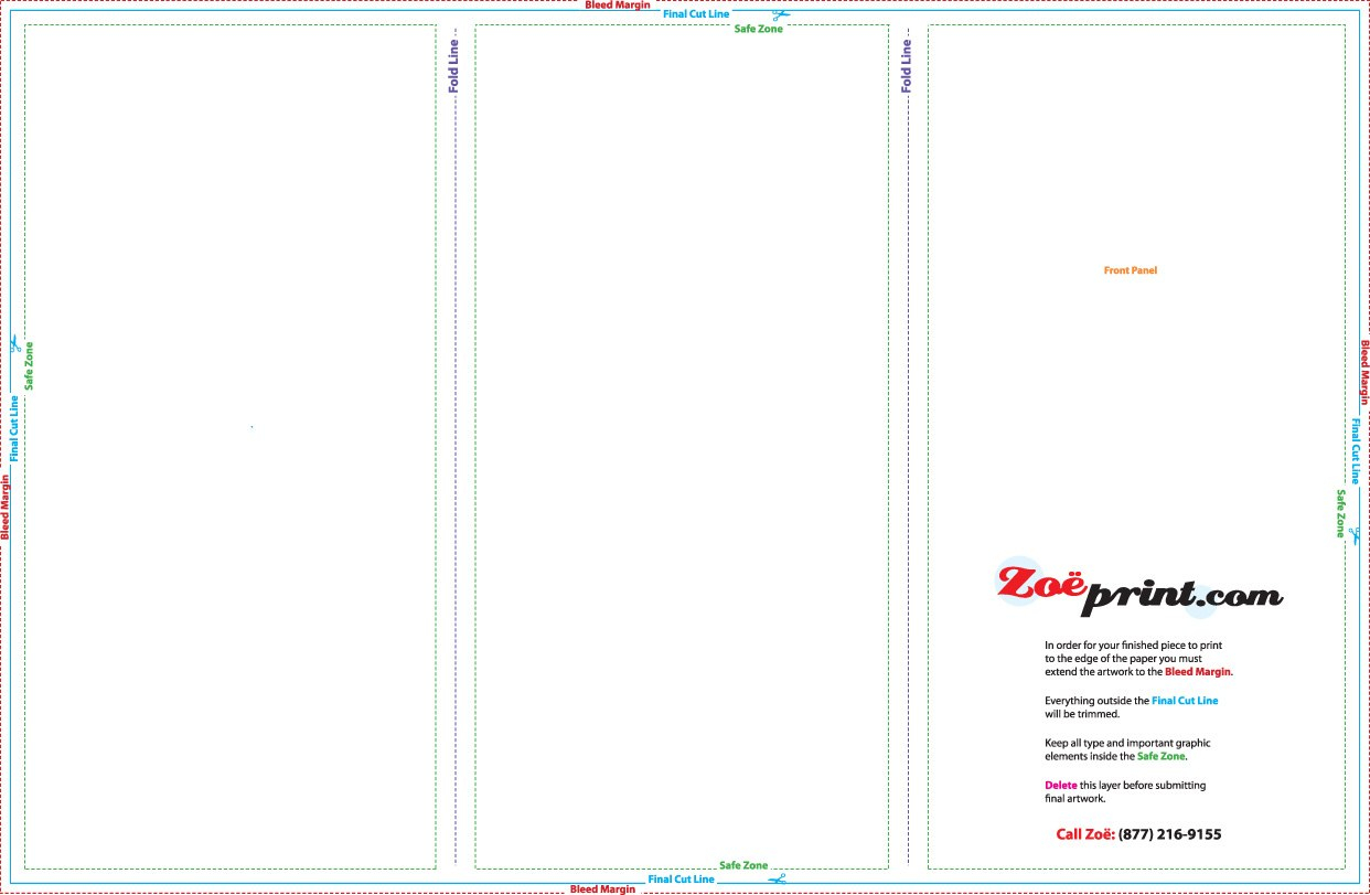 Printing Templates  Zoeprint For 8.5 X11 Brochure Template