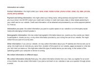 Privacy Policy Template  Indiafilings  Document Center pertaining to Credit Card Privacy Policy Template