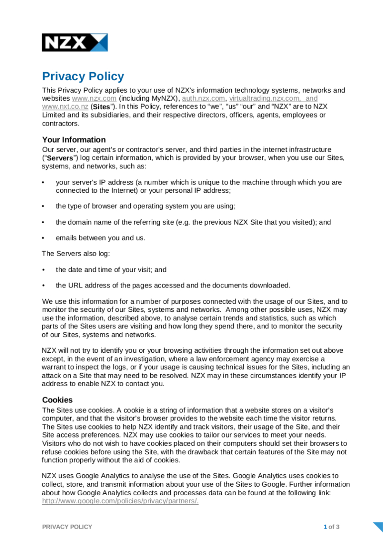 Privacy Policy Templates  Pdf Doc  Free  Premium Templates Pertaining To Customer Data Privacy Policy Template