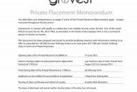 Private Placement Memorandum Templates Word Pdf with regard to Memo Template Word 2013