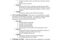 Process Document Template  Et  Business Requirements List for Business Requirements Document Template Pdf