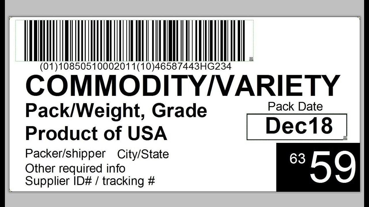 Produce Traceability Case  Pallet Labeling  Youtube Regarding Pallet Label Template
