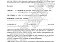 Product Agreement  Product Contract Form With Sample  Product throughout Product Warranty Agreement Template