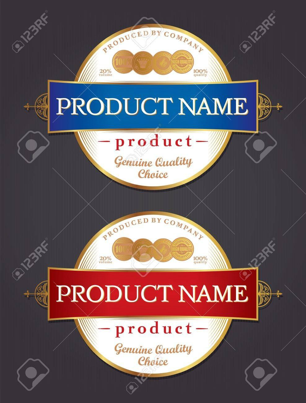 Product Label Design Template Retro Style Royalty Free Cliparts In Product Label Design Templates Free