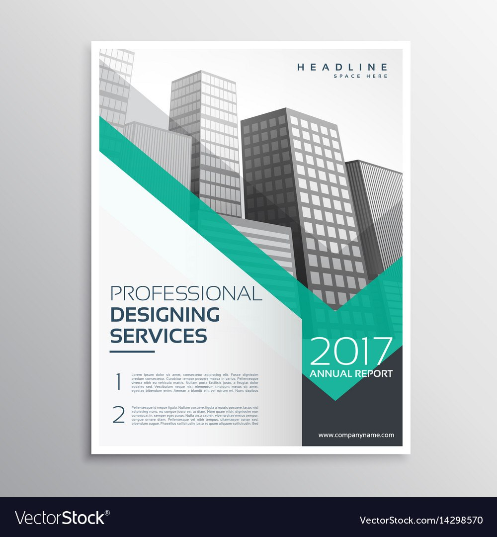 Professional Brochure Or Leaflet Template Design Vector Image Pertaining To Professional Brochure Design Templates