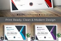Professional Completion Award Certificate Template in Professional Award Certificate Template