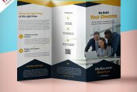 Professional Corporate Trifold Brochure Free Psd Template inside Three Panel Brochure Template