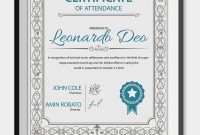 Professional Editable Certificate Of Attendance Template Sample For regarding Certificate Of Participation Template Ppt