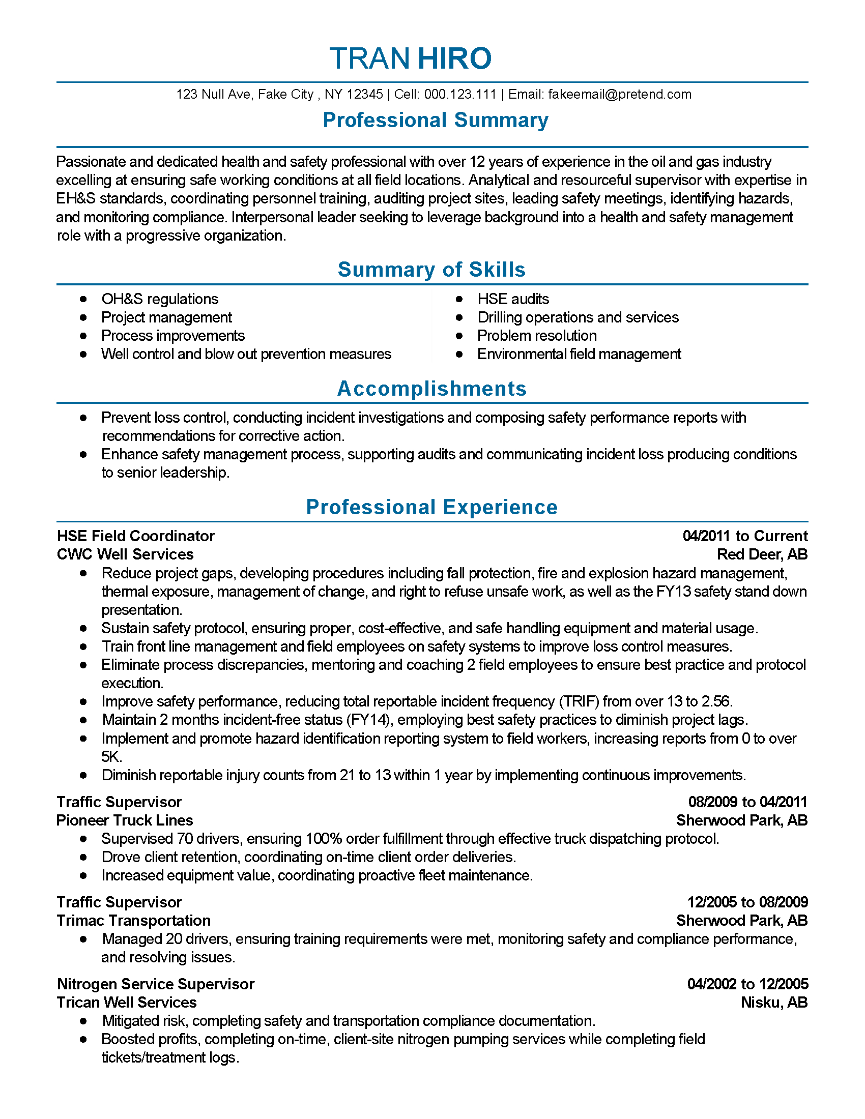 Professional Field Supervisor Templates To Showcase Your Talent Throughout Report To Senior Management Template