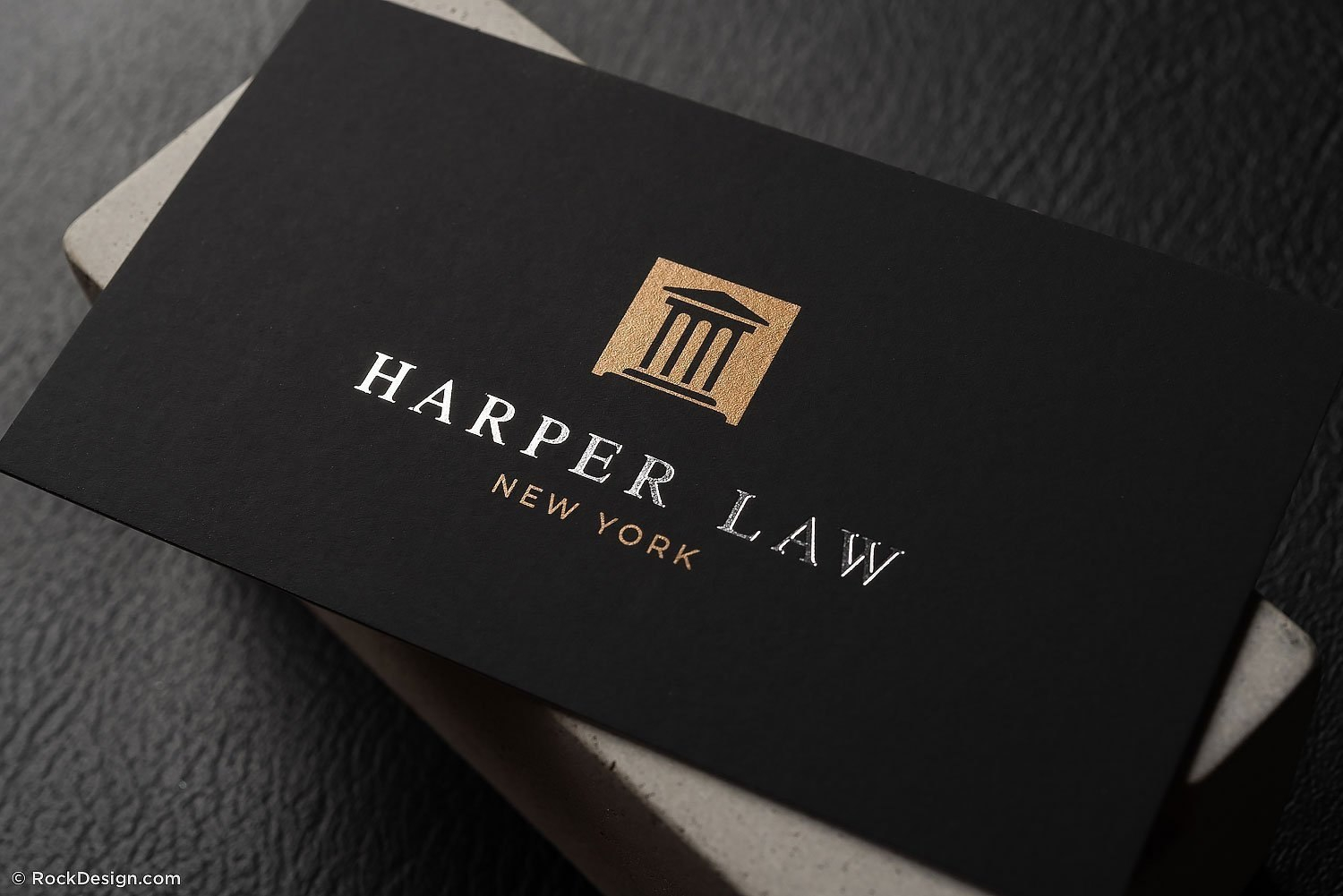 Professional Foil Stamped Lawyer Business Card Template  Harper Law For Lawyer Business Cards Templates