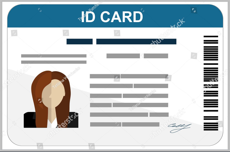 Professional Id Card Designs  Psd Eps Ai Word  Free Regarding Faculty Id Card Template