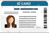 Professional Id Card Designs  Psd Eps Ai Word  Free with Personal Identification Card Template