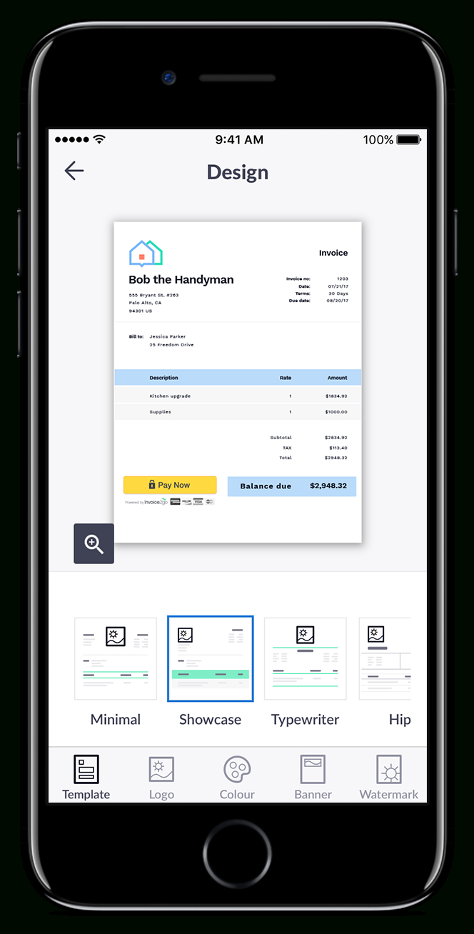 Professional Invoice App  Invoice Templates  Tools  Invoicego In Invoice Template Android