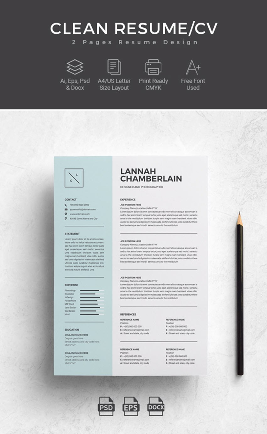 Professional Ms Word Resume Templates With Simple Designs For In How To Find A Resume Template On Word