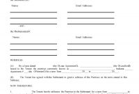 Professional Sublease Agreement Templates  Forms ᐅ Template Lab intended for Boat Slip Rental Agreement Template