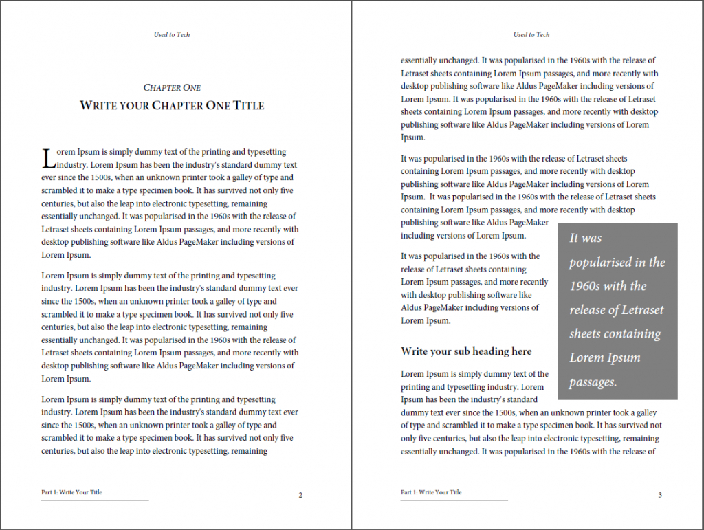 Professionallooking Book Template For Word Free  Used To Tech Inside 6X9 Book Template For Word