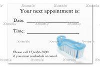 Profile Card  Dental  Dental Business Cards Orthodontics regarding Dentist Appointment Card Template